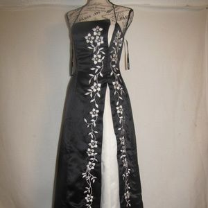 Vintage Black and White Morgan and Co. prom dress